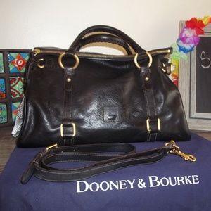Dooney & Bourke Black Florentine Medium Satchel